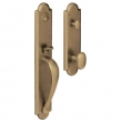 Baldwin<br />M514.050 - BOULDER FULL ESCUTCHEON - MORTISE ENTRY - SATIN BRASS AND BLACK