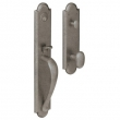 Baldwin<br />M514.452 - BOULDER FULL ESCUTCHEON - MORTISE ENTRY - DISTRESSED ANTIQUE NICKEL