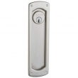 Baldwin<br />PD007 KC exterior plate only, no lock or cylinder  - Palo Alto Trim Cut For Cylinder Sliding Pocket Door