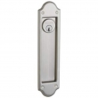 Baldwin<br />PD016 KC EXTERIOR PLATE ONLY , NO LOCK OR CYLINDER - Boulder Trim Cut For Cylinder Sliding Pocket Door