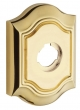 "Baldwin<br />R027.003 - 3"" BETHPAGE ROSE - LIFETIME POLISHED BRASS"