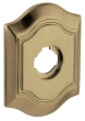 "Baldwin<br />R027.050 - 3"" BETHPAGE ROSE - SATIN BRASS AND BLACK"