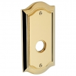 "Baldwin<br />R028.031 - 5"" BETHPAGE ROSE - NON-LACQUERED BRASS"