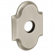 "Baldwin<br />R030.056 - 3"" ARCHED ROSE - LIFETIME SATIN NICKEL"