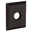 "Baldwin<br />R033.402 - 3"" SQUARED ROSE - DISTRESSED OIL RUBBED BRONZE"