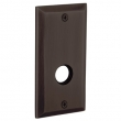 "Baldwin<br />R034.112 - 5"" RECTANGULAR ROSE - VENETIAN BRONZE"