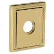 "Baldwin<br />R036.003 - 3"" SQUARED ROSE W/ROPE - LIFETIME POLISHED BRASS"