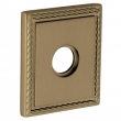 Baldwin<br />R036.050 - 3&quot; SQUARED ROSE W/ROPE - SATIN BRASS &amp;amp; BLACK