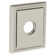 "Baldwin<br />R036.055 - 3"" SQUARED ROSE W/ROPE - LIFETIME POLISHED NICKEL"
