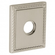 "Baldwin<br />R036.056 - 3"" SQUARED ROSE W/ROPE - LIFETIME SATIN NICKEL"