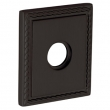 "Baldwin<br />R036.102 - 3"" SQUARED ROSE W/ROPE - OIL RUBBED BRONZE"