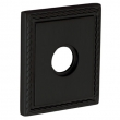"Baldwin<br />R036.190 - 3"" SQUARED ROSE W/ROPE - SATIN BLACK"