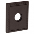 Baldwin<br />R036.412 - 3&quot; SQUARED ROSE W/ROPE - DISTRESSED VENETIAN BRONZE - LACQUER COATED