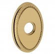 "Baldwin<br />R042.003 - 3"" OVAL ROSE W/ ROPE - LIFETIME POLISHED BRASS"