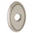 "Baldwin<br />R042.056 - 3"" OVAL ROSE W/ ROPE - LIFETIME SATIN NICKEL"