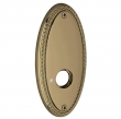"Baldwin<br />R043.050 - 5"" OVAL ROSE W/ROPE - SATIN BRASS & BLACK"