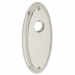 "Baldwin<br />R043.055 - 5"" OVAL ROSE W/ROPE - LIFETIME POLISHED NICKEL"