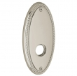 "Baldwin<br />R043.056 - 5"" OVAL ROSE W/ROPE - LIFETIME SATIN NICKEL"