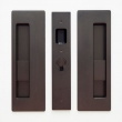 "Cavilock<br />CL400B0225 - Cavity Sliders Magnetic Privacy Pocket Door Set, Snib/Snib, Oil Rubbed Bronze, for 1 3/8"" Door Thickness"