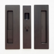 "Cavilock<br />CL400B0227 - Cavity Sliders Magnetic Privacy Pocket Door Set, Snib LH (Left Hand)/Blank, Oil Rubbed Bronze, for 1 3/8"" Door Thickness"
