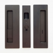 "Cavilock<br />CL400B0229 - Cavity Sliders Magnetic Privacy Pocket Door Set, Snib LH (Left Hand)/ Emerg RH, Oil Rubbed Bronze, for 1 3/8"" Door Thickness"