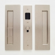 "Cavilock<br />CL400B0327 - Cavity Sliders Magnetic Privacy Pocket Door Set, Snib LH (Left Hand)/Blank, Satin Nickel, for 1 3/8"" Door Thickness"