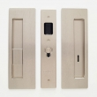"Cavilock<br />CL400B0329 - Cavity Sliders Magnetic Privacy Pocket Door Set, Snib LH (Left Hand)/ Emerg RH, Satin Nickel, for 1 3/8"" Door Thickness"
