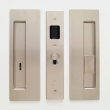 "Cavilock<br />CL400B0333 - Cavity Sliders Magnetic Privacy Pocket Door Set, Emerg LH/Snib RH (Right Hand), Satin Nickel, for 1 3/4"" Door Thickness"