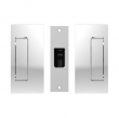 Cavilock<br />CL205A0000 - Passage Pocket Door Set, Non-Magnetic, Bright Chrome, for 1-3/8&quot; Door Thickness