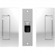 Cavilock<br />CL205C0015 - Magnetic Latch Bi-Parting Mate for Privacy Pocket Door Set, Passage with Striker, Bright Chrome, for 1-3/4&quot; Door Thickness