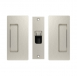 Cavilock<br />CL205C0018 - Magnetic Latch Bi-Parting Mate for Privacy Pocket Door Set, Passage with Striker, Satin Nickel, for 1-3/4&quot; Door Thickness