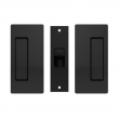 Cavilock<br />CL205C0021 - Magnetic Latch Bi-Parting Mate for Privacy Pocket Door Set, Passage with Striker, Matte Black, for 1-3/4&quot; Door Thickness