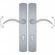 Ashley Norton<br />CVEU4.57 - Curved Profile Cylinder Lever High Multi Point Entry Trim - Configuration 5