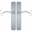 Ashley Norton<br />CVEU4.58 - Curved Profile Cylinder Lever High Multi Point Patio Trim - Configuration 5