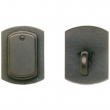 "Rocky Mountain Hardware<br />DB511 - Entry Single Cylinder/Dead Bolt - 2-1/2"" x 3-3/8"" Curved Escutcheons"