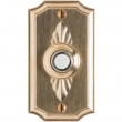"Doorbell Button - 2-1/2"" x 4-1/2"" Bordeaux Escutcheon"