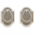 "Rocky Mountain Hardware<br />DD504  - Entry Double Cylinder/Dead Bolt - 2-1/2"" x 3-3/4"" Arched Escutcheons"
