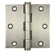 Deltana<br />DSB35B SOLID BRASS DOOR HINGES - 3.5&quot; x 3.5&quot; TWO BALL BEARING SQUARE DELTANA DOOR HINGE PAIR