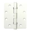 Deltana<br />DSB454ONBW Deltana Solid Brass Door Hinges - 4.5&quot; x 4&quot; 2-BALL BEARING NRP 1/4&quot; RADIUS DELTANA DOOR HINGE PAIR