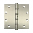 Deltana<br />DSB55B Deltana Solid Brass Door Hinges - 5&quot; x 5&quot; 4-BALL BEARING SQUARE DELTANA DOOR HINGE PAIR