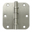 Deltana<br />S35R5 STEEL DOOR HINGES - 3.5&quot; x 3.5&quot; STEEL RESIDENTIAL 5/8&quot; RADIUS DELTANA DOOR HINGE PAIR
