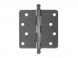 Deltana<br />S44R4-BT STEEL DOOR HINGES - 4&quot; x 4&quot; STEEL RESIDENTIAL 1/4&quot; RADIUS DELTANA DOOR HINGE PAIR WITH BALL TIPS INSTALLED