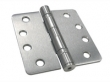 Deltana<br />S44R4HD STEEL DOOR HINGES - 4&quot; x 4&quot; STEEL HEAVY DUTY 1/4&quot; RADIUS DELTANA DOOR HINGE PAIR