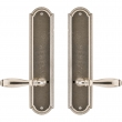 "Rocky Mountain Hardware<br />E060/E060 - Privacy Spring Latch Set - 3"" x 13"" Ellis Escutcheons"