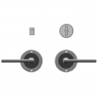 "Rocky Mountain Hardware<br />E101/E101 - Privacy Mortise Bolt/Spring Latch Set - 3-1/2"" Round Designer Escutcheons"
