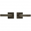 "Rocky Mountain Hardware<br />E103/E103 - Passage Mortise Lock Set - 3"" x 3"" Designer Escutcheons"