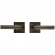 "Rocky Mountain Hardware<br />E103/E103 - Privacy Spring Latch Set - 3"" x 3"" Designer Escutcheons"