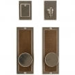 "Entry Dead Bolt/Spring Latch Set - 3"" x 8"" Designer Escutcheons"