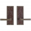 "Rocky Mountain Hardware<br />E110/E110 - Privacy Spring Latch Set - 3"" x 8"" Designer Escutcheons"