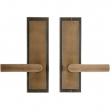 "Passage Spring Latch Set - 3"" x 10"" Designer Escutcheons"